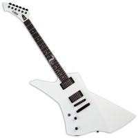 Photo ESP LTD SIGNATURE JAMES HETFIELD SNAKEBYTE SNOW WHITE GAUCHER