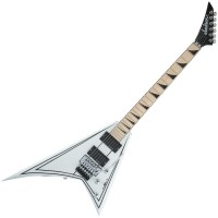 Photo JACKSON X SERIES RHOADS RRX24M SNOW WHITE W/ BLACK PINSTRIPES