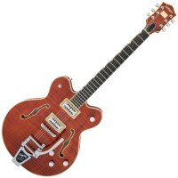 Photo GRETSCH GUITARS G6609TFM PLAYERS EDITION BROADKASTER BOURBON STAIN