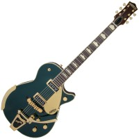 Photo GRETSCH GUITARS G6128T-57 VINTAGE SELECT '57 DUO JET CADILLAC GREEN