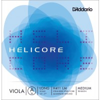 Photo D'ADDARIO H411LM - HELICORE CORDE LA ALTO LONG SCALE MEDIUM FILÉ ALU