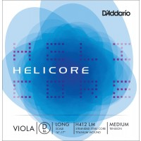 Photo D'ADDARIO H412LM - HELICORE CORDE RÉ ALTO LONG SCALE MEDIUM FILÉ TITANE