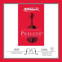 Photo D'ADDARIO J1011-1-2M - PRELUDE CORDE LA CELLO 1/2 MEDIUM FILÉ NICKEL