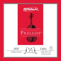 Photo D'ADDARIO J1011-4-4M - PRELUDE CORDE LA CELLO 4/4 MEDIUM FILÉ NICKEL