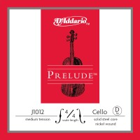 Photo D'ADDARIO J1012-4-4M - PRELUDE CORDE RÉ CELLO 4/4 MEDIUM FILÉ NICKEL