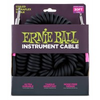 Photo ERNIE BALL CABLE ULTRAFLEX JACK/JACK - 9M BLACK