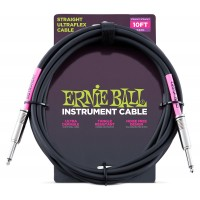 Photo ERNIE BALL CABLE ULTRAFLEX JACK/JACK - 3M BLACK
