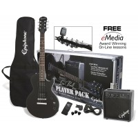 Photo EPIPHONE LES PAUL PLAYER PACK EBONY