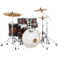 "Photo PEARL DECADE MAPLE 5 FÛTS ROCK 22"" SATIN BROWN BURST"