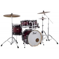 "Photo PEARL DECADE MAPLE 5 FÛTS ROCK 22"" GLOSS DEEP RED BURST"