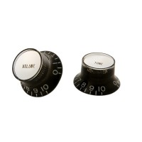 Photo GIBSON PRMK-010 PACK 4 BOUTONS TOP HAT BLACK/SILVER