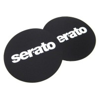 Photo SERATO LOGO SLIPMATS BLACK (PAIRE)