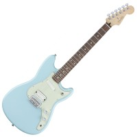 Photo FENDER OFFSET DUO-SONIC HS DAPHNE BLUE PF