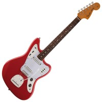 Photo FENDER CLASSIC 60S JAGUAR LACQUER FIESTA RED PF