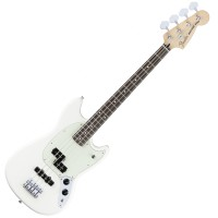 Photo FENDER OFFSET MUSTANG BASS PJ OLYMPIC WHITE PF