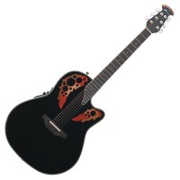 Photo OVATION CUSTOM ELITE DEEP CONTOUR CUTAWAY NOIR
