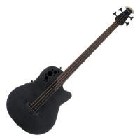 Photo OVATION ELITE T MID CUTAWAY BASS BLACK TEXTURED