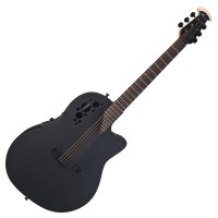 Photo OVATION ELITE T MID CUTAWAY BLACK TEXTURED