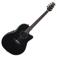 Photo OVATION STANDARD BALLADEER DEEP CONTOUR CUTAWAY BLACK
