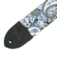 "Photo FENDER SANGLE PAISLEY 2"" BLUE"