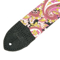 "Photo FENDER SANGLE PAISLEY 2"" PINK"