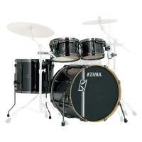 Photo TAMA MK42HLZBNS-BCB - SUPERSTAR HD MAPLE 4PC BRUSHED CHARCOAL BLACK