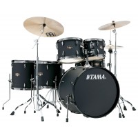 Photo TAMA IP62H6N-BBOB - IMPERIALSTAR 6PC BLACKED OUT BLACK