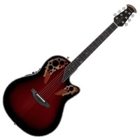 Photo OVATION C1778LX-BCB CUSTOM ELITE LX MID CUTAWAY BLACK CHERRY BURST
