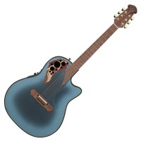 Photo OVATION ADAMAS 2087GT-8 DEEP CONTOUR CUTAWAY REVERSE BLUE BURST