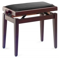Photo STAGG PB05 RWM VBK - BANQUETTE PIANO ROSEWOOD MAT + VELOURS NOIR