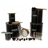 Photo GOPE GOP-PK-45ABK22 - PACK SAMBA SURDO NOIR 45CM 22 INSTRUMENTS