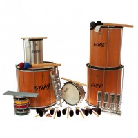 Photo GOPE GOP-PK-45WOHBK22 - PACK SAMBA SURDO BOIS 45CM HBK 22 INSTRUMENTS