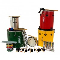 Photo GOPE GOP-PK-MAO22 - PACK SAMBA SURDO DE MAO 22 INSTRUMENTS