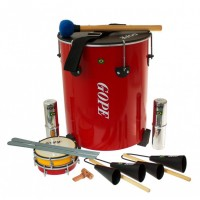 Photo GOPE GOP-PK-MAO8 - PACK SAMBA SURDO DE MAO 8 INSTRUMENTS