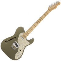 Photo FENDER AMERICAN ELITE TELECASTER THINLINE CHAMPAGNE