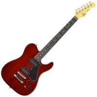 Photo G&L TRIBUTE ASAT JUNIOR II TRANS RED/PALISSANDRE