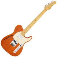 Photo G&L ASAT CLASSIC BLUESBOY SEMI-HOLLOW CLEAR ORANGE/ERABLE