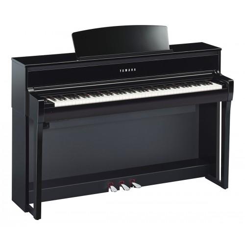 Yamaha clp 675pe clavinova laque noir achat piano for Meuble yamaha