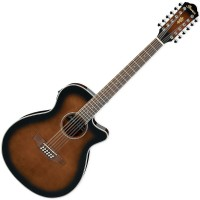 Photo IBANEZ AEG1812II-DVS - 12 CORDES - DARK VIOLIN SUNBURST HIGH GLOSS