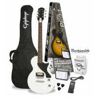 Photo EPIPHONE PRO-1 LES PAUL JR PACK ALPINE WHITE