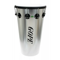 "Photo GOPE TM1463AL-10HBK - TIMBAL ALU 14"" 10 TIRANTS CERCLE NOIR"
