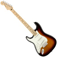 Photo FENDER PLAYER STRATOCASTER 3-COLOR SUNBURST MN LH