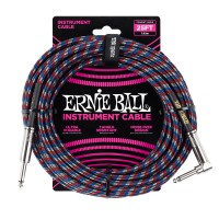 Photo ERNIE BALL 6063 CABLE INSTRUMENT JACK/JACK COUDÉ 4-COLORS 7,62M