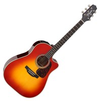 Photo TAKAMINE CP6SSDC DREADNOUGHT CUTAWAY ELECTRO GLOSS CHERRY SUNBURST