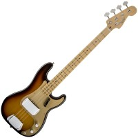 Photo FENDER AMERICAN VINTAGE '58 PRECISION BASS FADED 3-COLOR SUNBURST MN