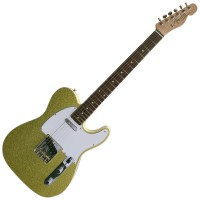 Photo FENDER CUSTOM SHOP '62 TELE CHARTREUSE SPARKLE CLOSET CLASSIC ROSEWOOD