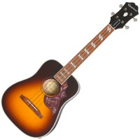Photo EPIPHONE HUMMINGBIRD E/A UKULELE OUTFIT TENOR TOBACCO SUNBURST