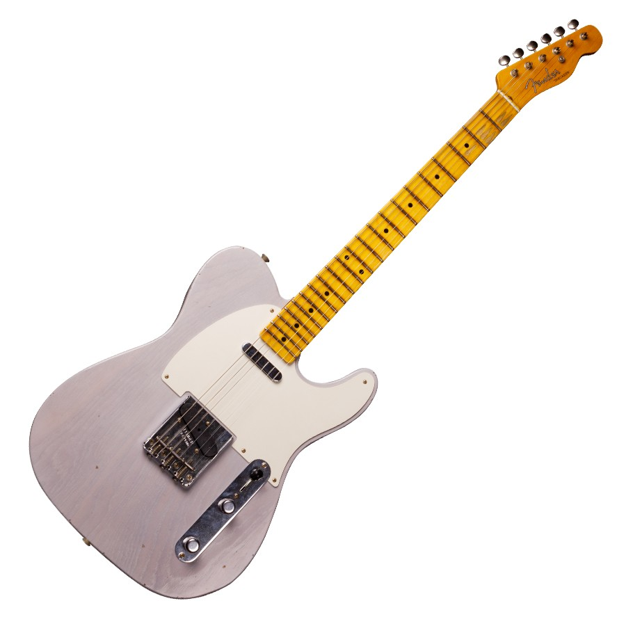 a3ed1d30583c1 FENDER  57 TELECASTER JOURNEYMAN RELIC MAPLE NECK WHITE BLONDE ...