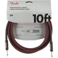 Photo FENDER CABLE PROFESSIONAL SERIES INSTRUMENT RED TWEED 3 M DROIT/DROIT