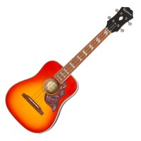 Photo EPIPHONE HUMMINGBIRD E/A UKULELE OUTFIT TENOR FADED CHERRY BURST